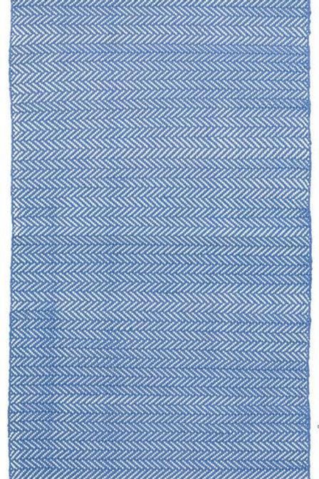 #12063 Herringbone Rug (French Blue/White)