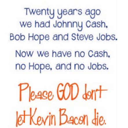 #9780 Kevin Bacon Tea Towel
