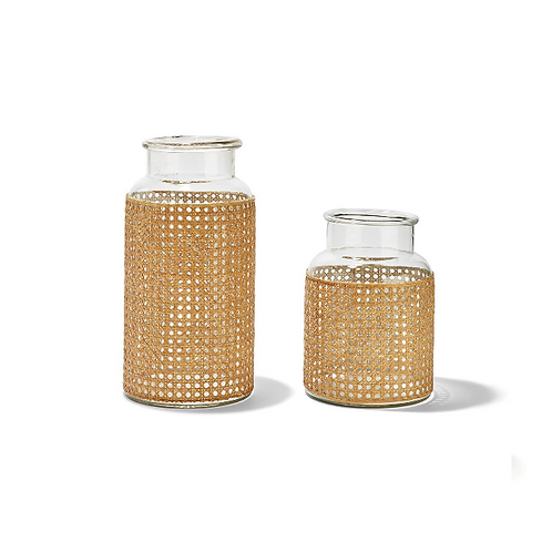 #10983 Large Cane Jar