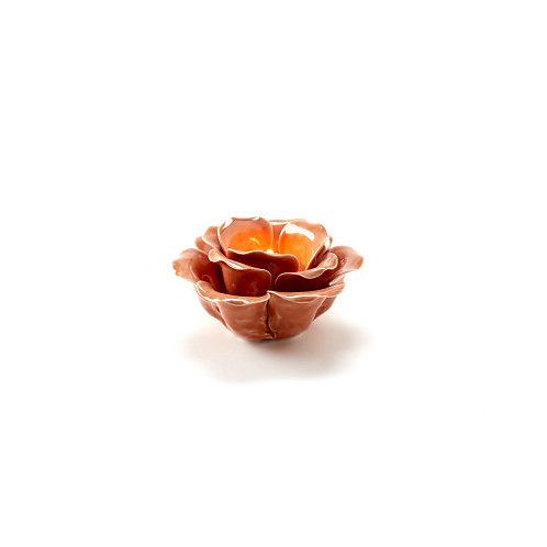 #11054 Blossom Tealight Holder (Coral)
