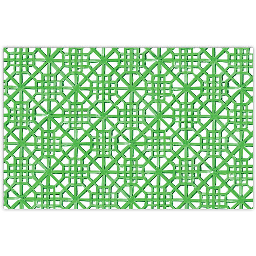 #10163 Green Painted Lattice Placemats