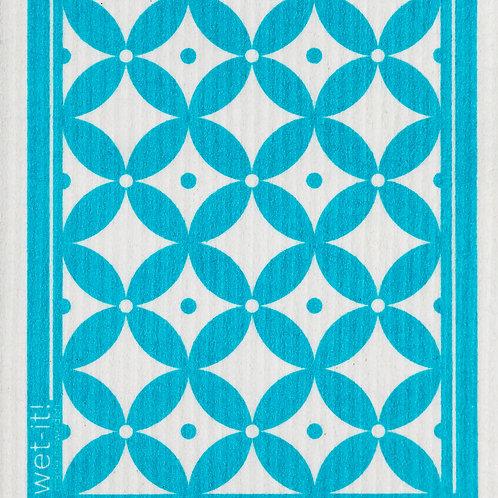 #11083 Trellis Swedish Dish Cloth (Light Blue)