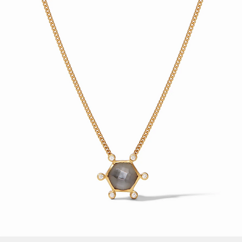 #11939 Cosmo Solitaire Necklace (Charcoal Blue)