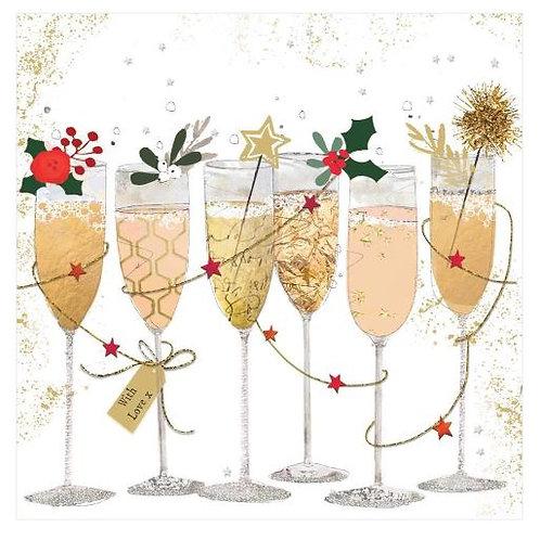 #10246 Festive Champagne Cocktail Napkins
