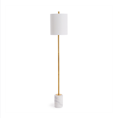 #10452 Gold & Marble Floor Lamp