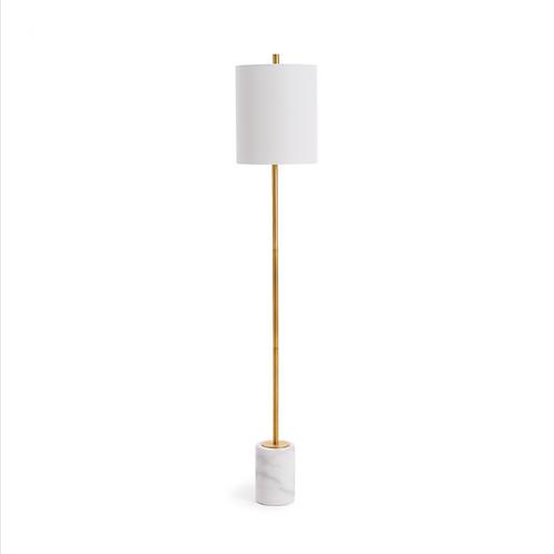#10452 Gold & Marble Floor Lamp