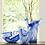 Thumbnail: #8227 Onda Glass Cobalt Round Serving Bowl
