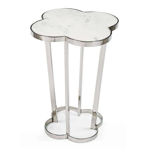 #2160 Quatrefoil table (Polished Nickel)