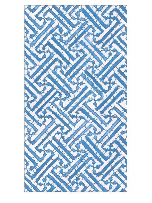 #11734 Guest Towel Napkin (Fretwork Blue)
