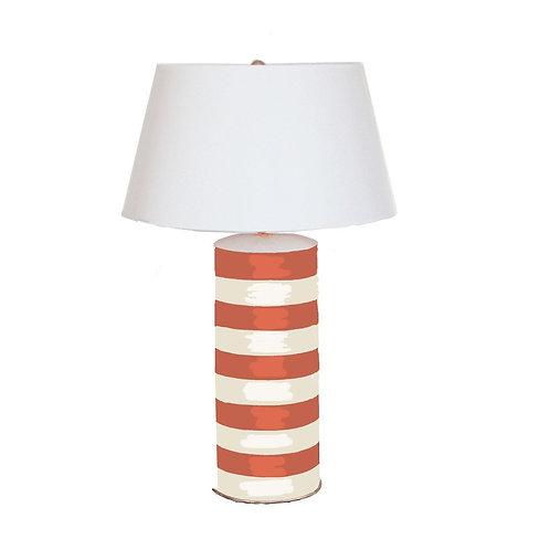 #2486 Orange striped lamp