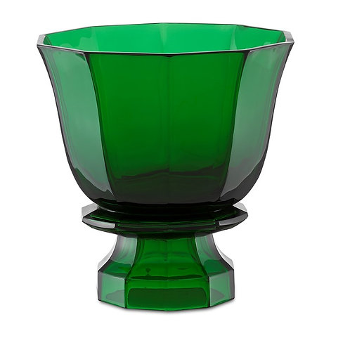 #12118 Emerald Footed Vase