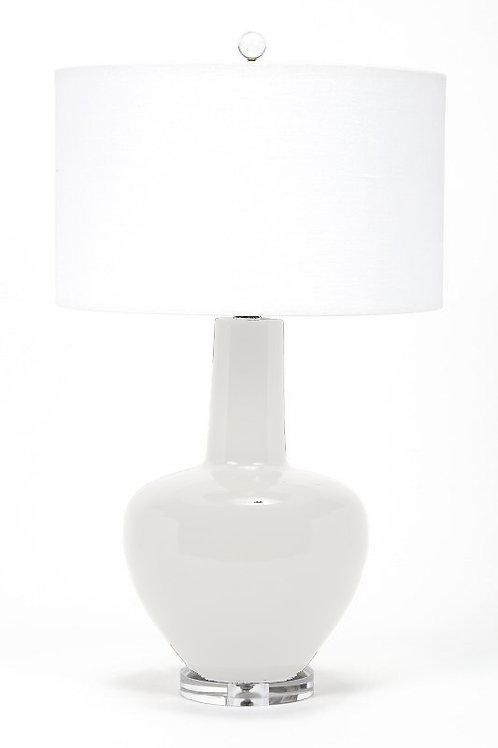 #8322 Curved Ceramic Lamp