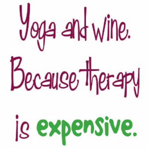 #9788 Yoga & Wine Tea Towel