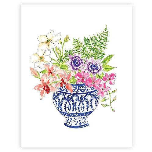 #11109 Floral Arrangement Art Print (Pedestal Jar)