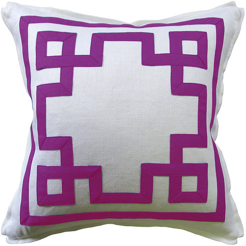 #9661 Fretwork Pillow-Orchid