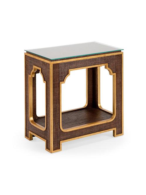 #10517 Raffia Side Table