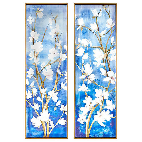 9281 Floral Dyptic, Pair