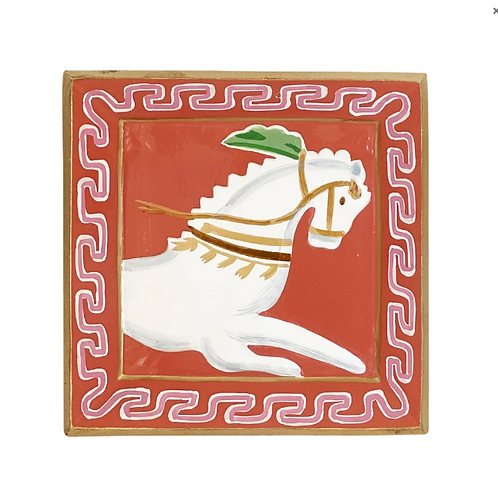 #11092 Horse Tray (Pink)