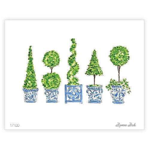 #10183 Topiary Mix Print