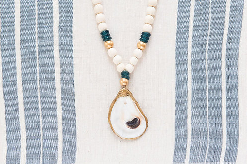 #10727 Oyster Necklace (Teal)