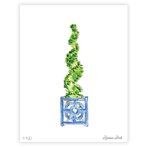 #10180 Spiral Topiary Print