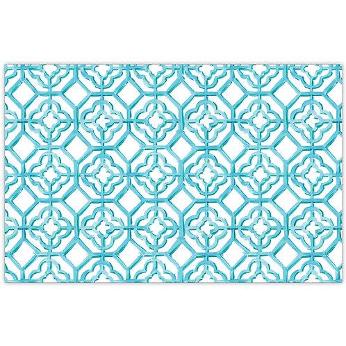 #10165 Aqua Painted Tiles Placemats