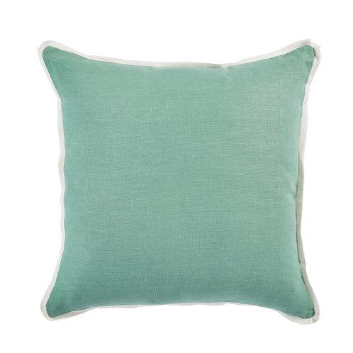 #11988 Linen w/White Flange Pillow
