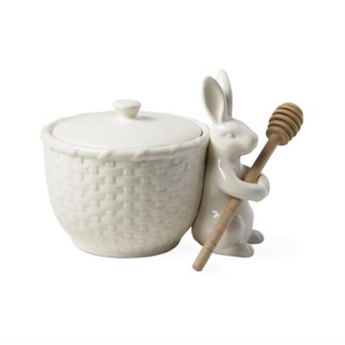 #9937 Bunny Honey Dipper Pot