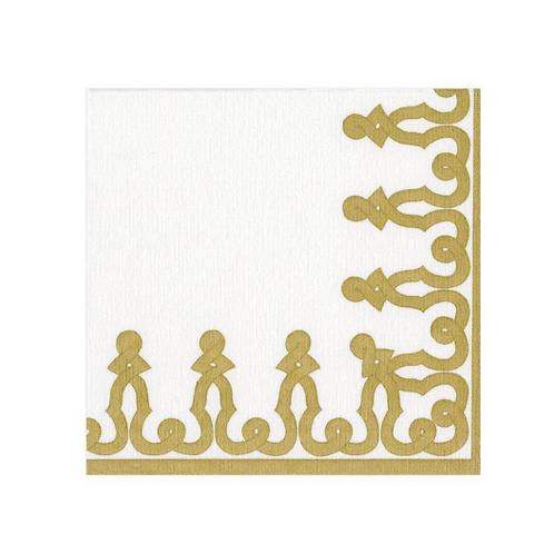 #11725 Paper Linen Cocktail Napkins (Gold)