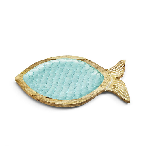 #10053 Wood and Scales Fish Tray