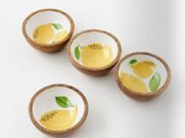 #11001 Set of 4 Lemon Bowls