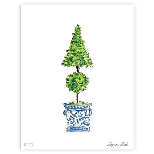 #10182 Double Topiary Art Print