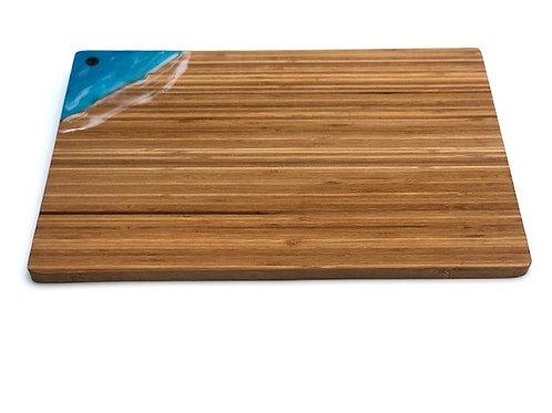 #10322 XL Cutting Board Corner Wave (Blue)