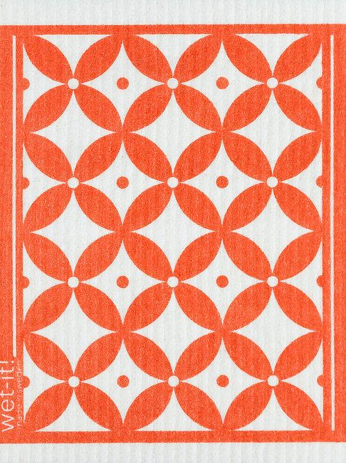 #11084 Trellis Swedish Dish Cloth (Coral)