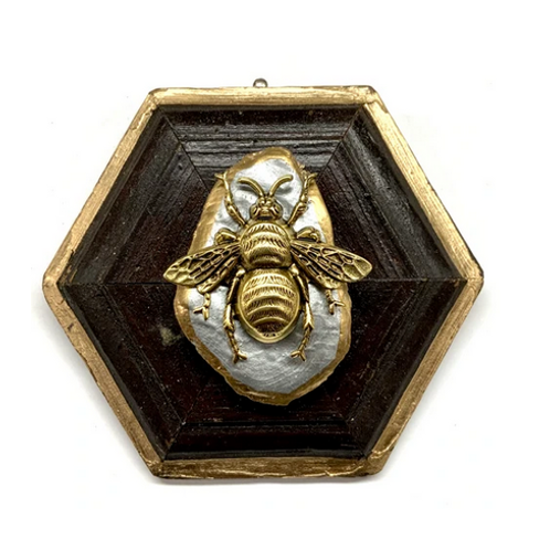#10670 Gilt Frame w/Grande Bee on Oyster Shell