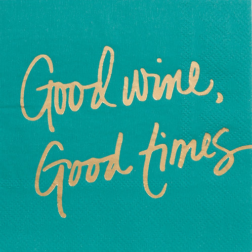 #10106 Good Wine Good Times Napkins