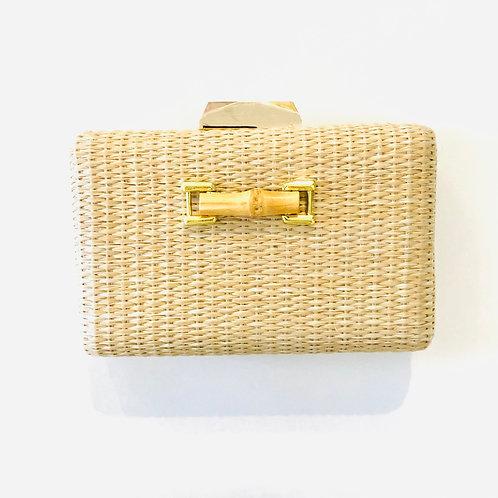 #10027 Mimi Bamboo Straw Clutch