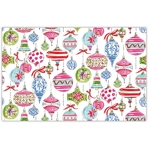 #10156 Holiday Ornament Placemats