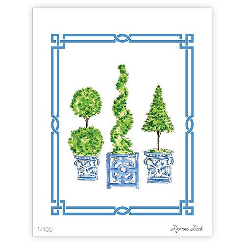 #10185 Ivy Topiary Trio 2 Print