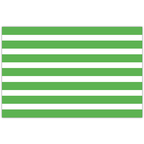 #10160 Green Cabana Stripe Placemats