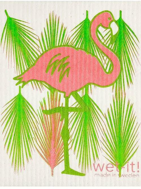#9946 Flamingo Swedish Dishcloth