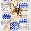 Thumbnail: #9968 Santorini Fish Salad Plate Set
