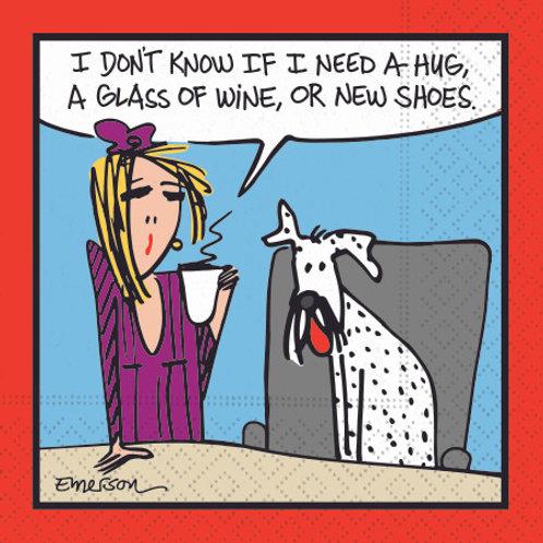 #10117 Hug, Wine, or Shoes Napkins