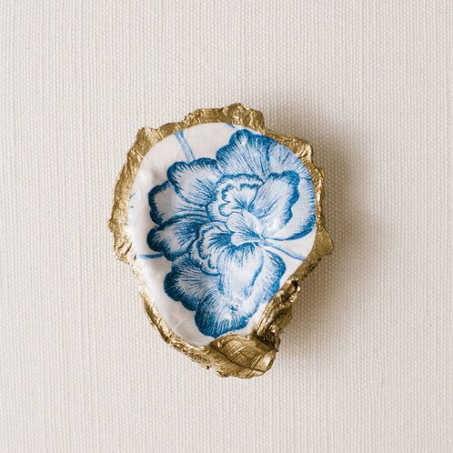 #10772 Bloom Decoupage Oyster Dish
