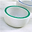 Thumbnail: #11896 Hand Carved Marble Bowl w/ Malachite