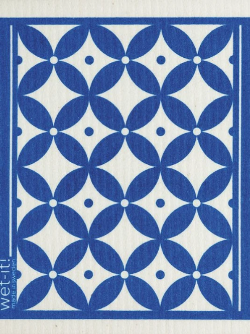 #11085 Trellis Swedish Dish Cloth (Dark Blue)