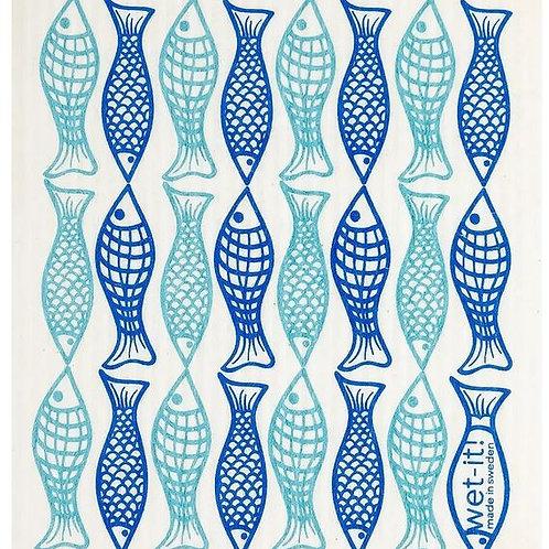 #9942 Fish Swedish Dishcloth