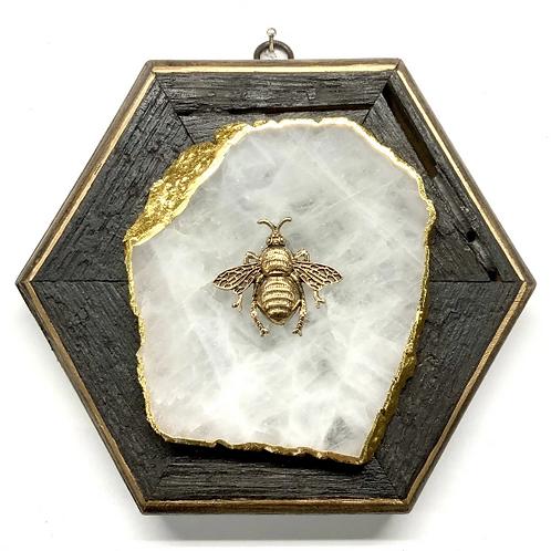 #11526 Bourbon Barrel Frame w/ Grande Bee on Agate