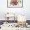 Thumbnail: #10503 White Linen Cushion Stool