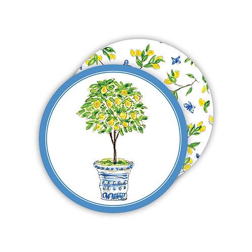 #11767 Lemon Tree Topiary Coasters